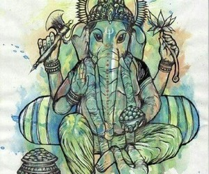 acid, Ganesha, and india image