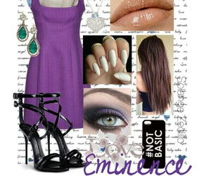 outfit, purple, and style image