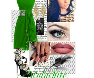 fashion, green, and Polyvore image