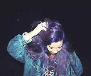 grunge, girl, and hair image