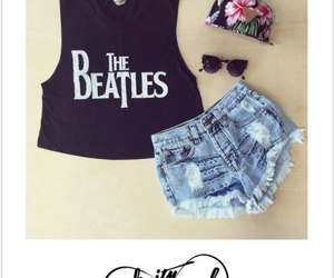 beatles, outfit, and summer image