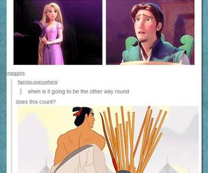 disney, funny, and mulan image