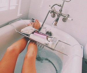 relax, bath, and legs image