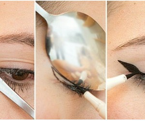diy, eyelashes, and eyeliner image