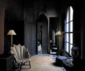gothic, bedroom, and goth image