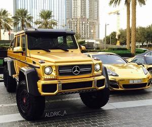 ferrari, gold, and luxury image