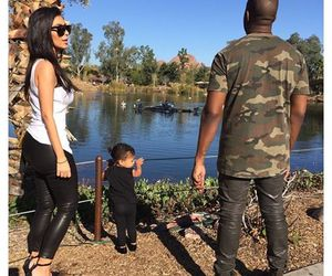 kim kardashian, north west, and family image