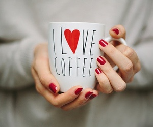 coffee, love, and red image