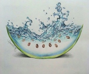 draw, drawing, and melon image