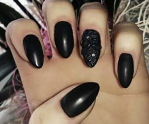 beauty, black, and manicure image