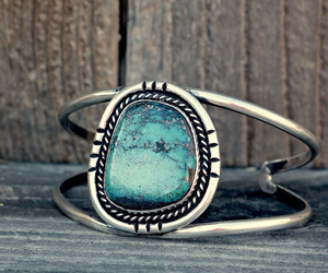 silver and turquoise image