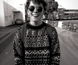 boy, hipster, and smile image