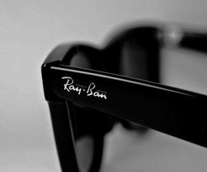 ray ban, black, and glasses image