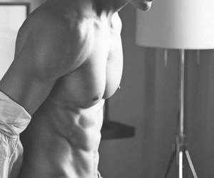 abs, smooth chest, and hot and sexy nipples image
