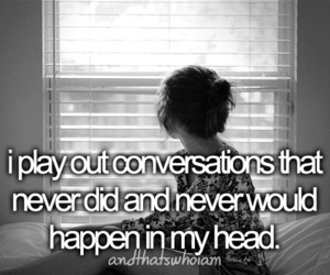 conversation, quote, and head image