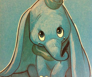 disney, dumbo, and drawing image