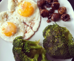 broccoli, chestnuts, and eggs image