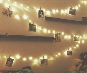 bedroom, cosy, and fairy lights image