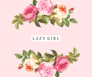 flowers, girl, and Lazy image