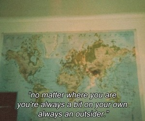 quote, outsider, and map image