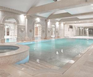pool, luxury, and purple image