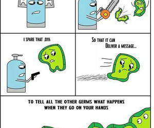 funny, germs, and lol image