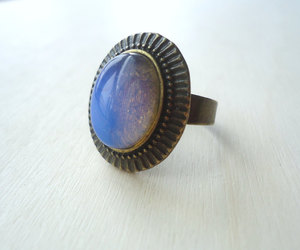 hippie, metaphysical, and stone ring image