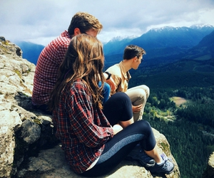 mountains, travel, and friends image