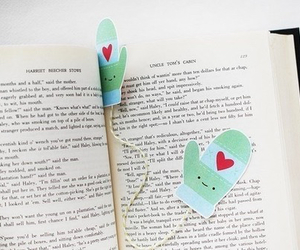 bookmarks, love, and books image
