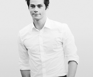 dylan o'brien, black and white, and Hot image