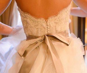 wedding dress, fashion, and lace image