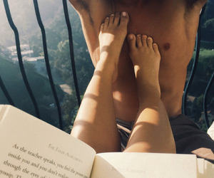 book, boy, and relationship goals image