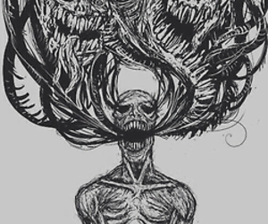 demon, art, and monster image