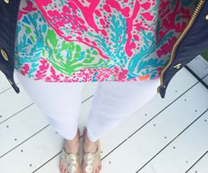 preppy, lilly pulizter, and jack rogers image