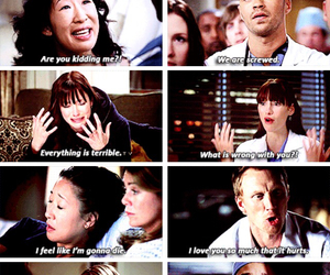cristina yang, emotional, and greys anatomy image