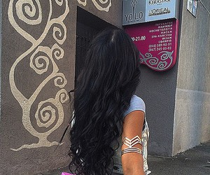 brune, girl, and hair image