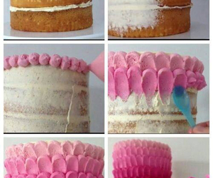 cake, diy, and pink image