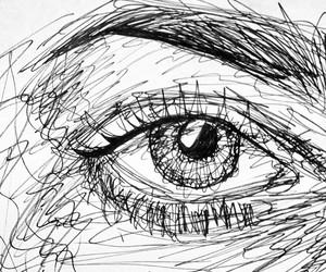 art, drawing, and eye image