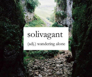 alone, nature, and words image