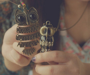 jewelry, necklaces, and owls image