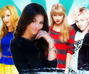 Taylor Swift, bella thorne, and zendaya image