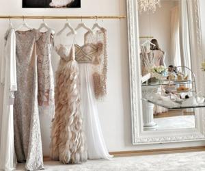 dress, white, and luxury image