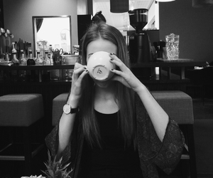 black and white, girl, and hipster image