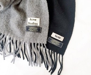 fashion, acne, and scarf image