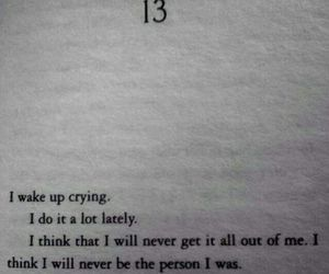 sad, quote, and book image