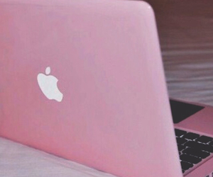 grunge, pink, and laptop image