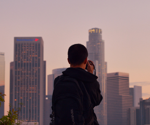 city, photography, and los angeles image