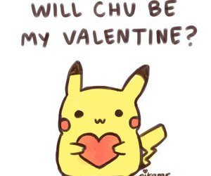 valentine, pikachu, and love image