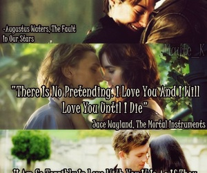 ruby red, augustus waters, and mortal instruments image