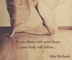 dance, quotes, and heart image